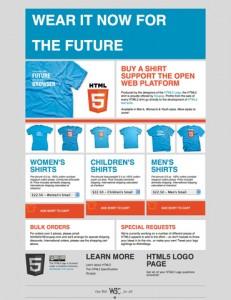 HTML5 Logo T-shirts販売サイト